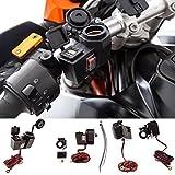 UltimateAddons® Motorcycle 5V 2 Amp Power Supply 2 USB Dual Ports & Cigarette Socket Handlebar Mount