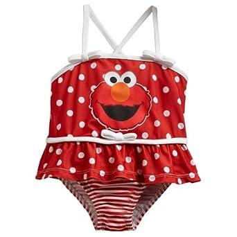 Amazon Sesame Street Elmo Toddler Red Swimsuit 7A7727