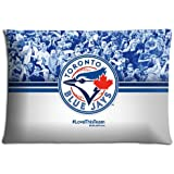 """16x24 16""""x24"""" 40x60cm bedding pillow cases ( Polyester and Cotton ) Vibrant quality Toronto Blue Jays"""