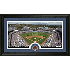 MLB Los Angeles Dodgers Infield Dirt Coin Panoramic Mint Photo by Bullion International