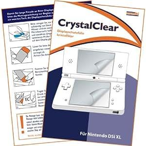 """mumbi Displayschutzfolie Nintendo DSi XL Displayschutz """"CrystalClear"""" für Bildschirm UND Touchscreen unsichtbar"""