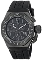 Swiss Legend Men's 10540-BB-01-GRYA Trimix Diver Chronograph Black Dial Black Silicone Watch by Swiss Legend