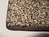 Indoor / Outdoor Turf Rug - 2'x3' - BROWN,TAN&WHITE MULTI MULTI - Artificial Grass with Premium BOUND Nylon Edges. A Quality Dense Turf of 20 Oz. with a 3/8