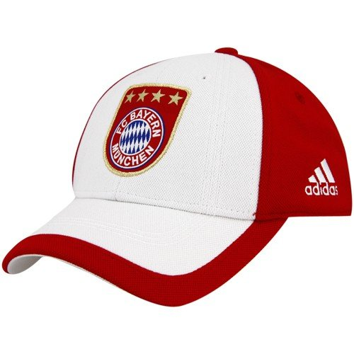 adidas Bayern Munich White-Red Club Team A-Flex Fit Hat