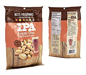 Nuts For Drinks|Crunchy Peanut Snack Pairs With Your Favorite Beer or Drink (IPA|Aromatic Citrus), 4 Pack