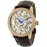 Stuhrling Original Men's 228.33452 Symphony Saturnalia Brumalia Mechanical Skeleton Rose Tone Watch