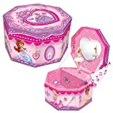 Octagonal Musical Jewelry Box: Princess Theme