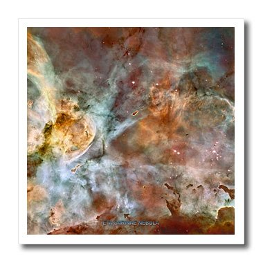 Ht_76816_2 Sandy Mertens Space Gallery - Galaxy And Nebula - Eta Carinae Nebula By Nasa Hubble Telescope - Iron On Heat Transfers - 6X6 Iron On Heat Transfer For White Material