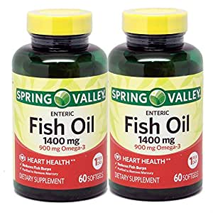 Amazon.com: Spring Valley - Fish Oil 1400 mg, 120 Softgels: Health & Personal Care