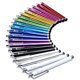 Fenix - Set of 20 Universal Stylus Pack for iPhone, iPad, Samsung Galaxy Note, Samsung Galaxy S4/S5/S6, LG, Kindle and Much More (Color: 20-Pack)