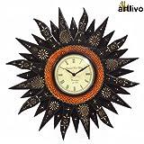 Artlivo Embossed Black Sunny Wall Clock WC021
