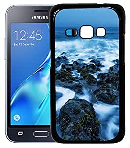 FCS Printed 2D Designer Hard Back Case For Samsung Galaxy J1 (2016) With Universal Mobile Stand