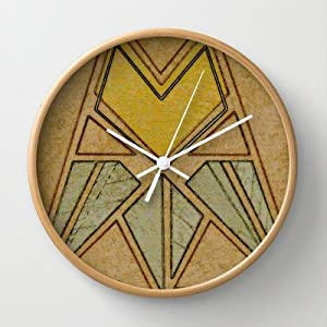 Society6 arts crafts style tulip wall for Arts and crafts style wall clock