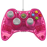 Control PDP Rock Candy con cable para Xbox 360, color rosado.