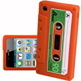 IPHONE 3G 3GS ORANGE CASSETTE RETRO TAPE GEL COVER SILICONE CASE SKIN iTAPE From Gadget Zoo