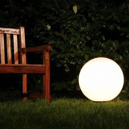 pacte pour boule lumineuse lampe d 39 ext rieur luminaire jardin globe clairant 50cm. Black Bedroom Furniture Sets. Home Design Ideas