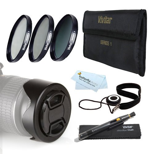 72Mm Pro Lens Kit For Nikon Df, D7100, D7000, D5300, D5200, D5100, D3200 D3100 D800, D700, D600 D610 D300S D90 Canon Eos 5D Mark Iii, Eos-1D X, 6D, 7D, 60D, 70D T5I, T4I, Sl1, T3I, T3, Eos M Dslr - 72Mm 3Pc Filter Kit (Uv Cpl Nd8 Neutral Density Filter) +