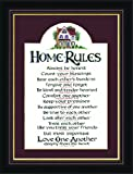 Christian Home Rules Art Gift Frame 7″ X 9″