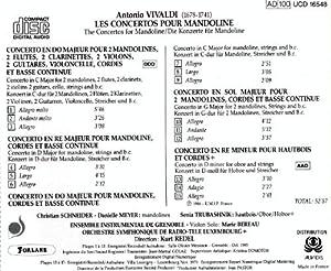 Antonio Vivaldi Concertos for Mandolin Oboe Concerto in D Minor