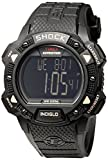 Timex Men's T49896 Expedition Rugged Shock Digital Chrono Alarm Timer All Black Resin Strap Watch