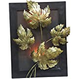 Collectible India Vintage Designer Leaf Tealight Candle Holder Wall Hanging Frame Home Lighting Decorative Antique...