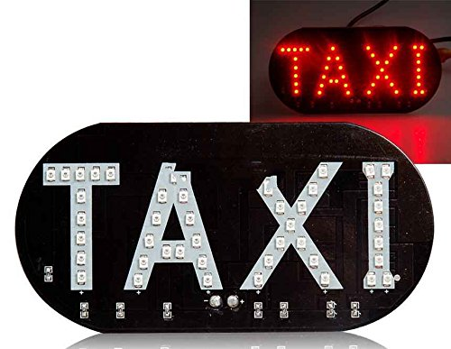 Generic Led Taxi Sign Lamp (Black)