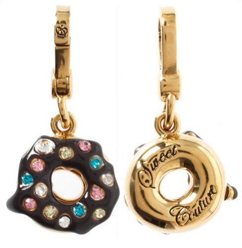 Juicy Couture Juicy Couture - Chocolate Frosting Donut with Sprinkles - Gold Plated Charm