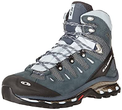 Salomon Women's Quest 4D GTX Backpacking Boot,Deep Blue/Cerulean/Grey Denim,5 M US
