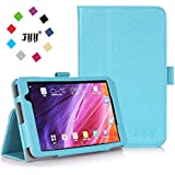 [Corner Protection] ASUS MeMo Pad 7 ME 176CX Case Cover, Fyy® Premium Soft Folio Leather Case for ASUS MeMo Pad 7 ME 176CX Cyan (With Auto Wake/Sleep Feature)