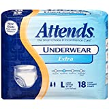Attends Extra Absorbency Protective 4 pack Underwear size Large
