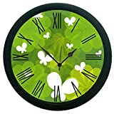 meSleep Floral Wall Clock (With Glass)