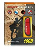Transcend TS16GJFV70 - JetFlash V70 16GB Rugged USB Flash Drive (Red)