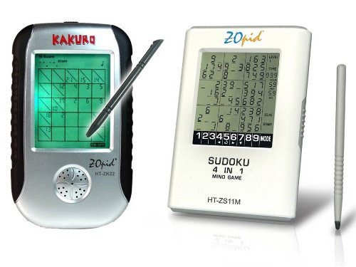 Cheap Fun ZOpid – Electronic Sudoku and Kakuro Handheld Game with Backlight and Touch Screen (B000G01B3O)