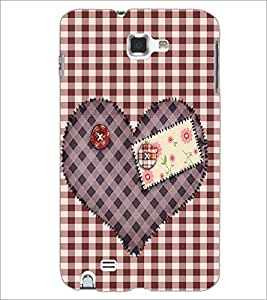 PrintDhaba Heart D-2258 Back Case Cover for SAMSUNG GALAXY NOTE 1 (Multi-Coloured)