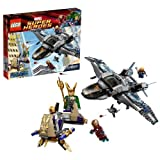 Lego Year 2012 Marvel Super Heroes Series Battle Scene Set #6869 - QUINJET AERIAL BATTLE With Quinjet Loki's Chariot...