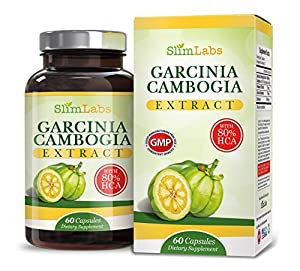 ★ EXTREME 80% HCA Garcinia Cambogia Extract Pure All Natural Formula ★ 30 DAY GUARANTEED WEIGHT LOSS PROGRAM ★ Best Appetite Suppressant Belly Fat Burner Supplement Diet Pills That Works 100% Money Backed by Amazon Guarantee!