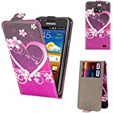 32nd® Design flip PU leather wallet case cover for Samsung Galaxy S2 Sii i9100 + Screen Protector and Cloth - Love Heart