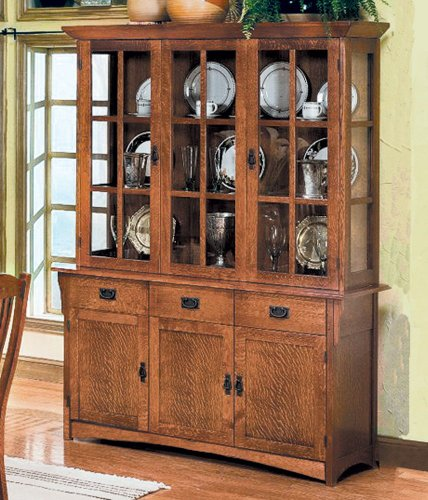 Mission Style Dining Room Hutch