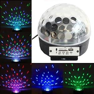 zwstyle disco dj lichteffekt discokugel led licht mp3 rgb projektor mit fernbedienung. Black Bedroom Furniture Sets. Home Design Ideas
