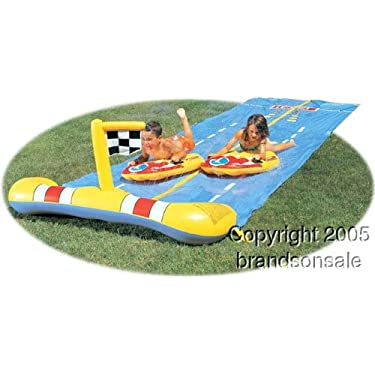 Childrens Inflatable Race Water Slide