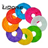 LIDORE 8 Pack Assorted Different Multi Color Chinese Paper Lanterns Lamps 8 Inch