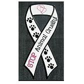 リボンマグネット『動物虐待をやめよう』Animal Cruelty