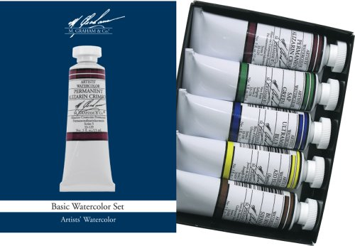 M. Graham Watercolor Paint Basic 5-Color Set