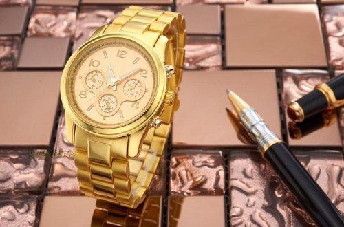 New 2014 +Logo Mens Watches Top Brand Luxury Lady Gold Fashion Quartz Watch Women Dress Watch Rhinestone Sports Military Watch