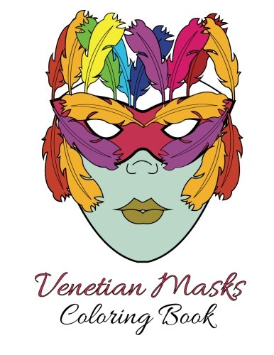 USED LN Venetian Masks Coloring Book By Individuality Books