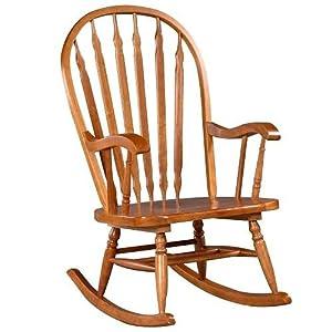 Carolina Cottage Cherry Finish Hudson Rocker Rocking Chair