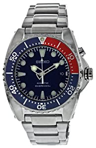 Gents Seiko Kinetic Stainless Steel Divers 200M Water Resistant Watch on Bracelet Date. Ref SKA369P1