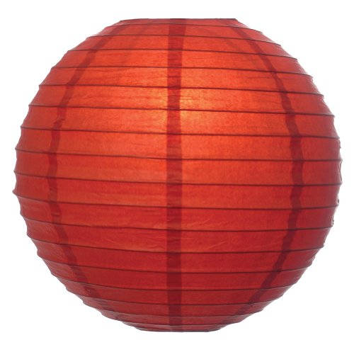 "WeGlow International 12"" Deluxe Paper Lantern - Amber (3 Pieces)"
