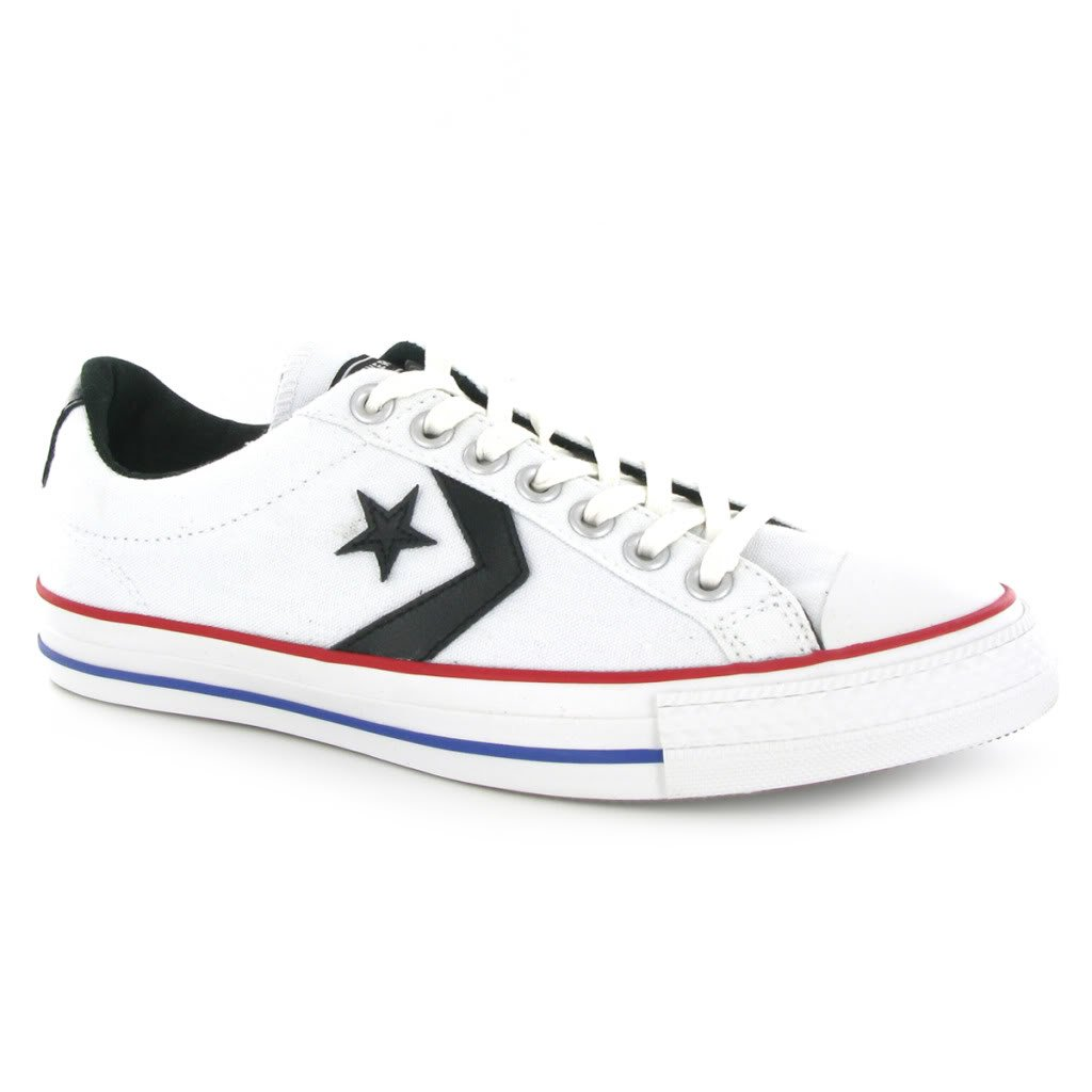 Converse Star Player Black White Red Blue