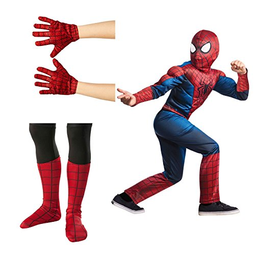 Amazing Spider-Man 2 Deluxe Child Costume Bundle Set - Medium (8/10)
